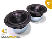 "Pair of Bass Speakers Woofer Cone 130mm 5"" 90W 8 Ohm Replacement HiFi Speaker"