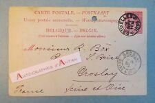Carte postale 1895 BREITKOPF & HAERTEL Belgique Sign autographe M. Box à GROSLAY
