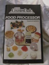 Sears Counter Craft Model 400 822804 Food Processor Instruction/Recipe Booklet