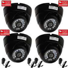 4 x Dome Security Camera Wide Angle Lens Outdoor Night Vision 20 IR LED CCTV CF9