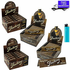 5000 Filtri SMOKING BROWN di carta filtro +  3300 Cartine SMOKING BROWN Lunghe