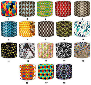Lampshades Ideal To Match Retro Pattern Cushions, Retro Pattern Duvets & Decals