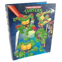 Vintage 1990 Teenage Mutant Hero Turtles TMNT Ring Binder Folder