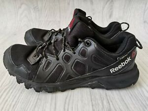 MENS GENTS REEBOK SAWCUT 4.0 GORETEX TRAIL WALKING BLACK SHOES TRAINERS UK 7