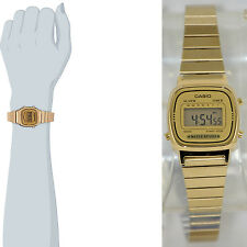 Casio Ladies LA670WGA-9 Watch Gold Steel Band Digital Classic Vintage Mint