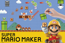 SUPER MARIO MAKER single 24x36 poster BRAND NEW NINTENDO Wii MAKE YOUR OWN LEVEL