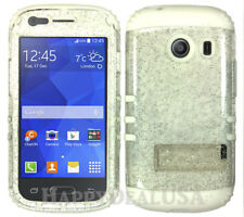 For Samsung Galaxy Ace Style S765c - KoolKase Hybrid Cover Case - Glitter Clear
