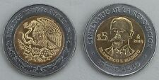 "Mexiko / Mexico 5 Pesos 2010 ""Revolution: Francisco I. Madero"" unz."