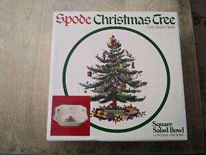 SPODE CHRISTMAS TREE LARGE SQUARE SERVING BOWL NEW IN BOX