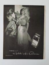 1951 Dana Tabu The Forbidden perfume bottle in Spring vintage ad