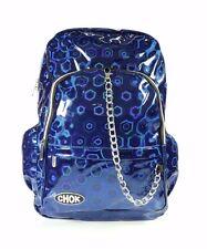 Chok Holo Blue 3D Reflective Backpack Rucksack Unisex School College Bag