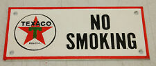 VINTAGE STYLE TEXACO GAS STATION NO SMOKING CAST IRON  SIGN OIL
