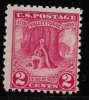 US Scott #645, Single 1928 Washington 2c FVF MNH