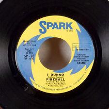 "Fireball I Dunno / Bachanalia 7"" 45 Spark Funk Soul Breaks WLP promo dj EX"