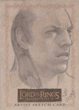 """Lord of the Rings Masterpieces II - Ingrid Hardy """"Elrond"""" Sketch Card"""