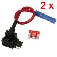 2pcs Add A Circuit Fuse Tap Micro Blade Fuse Splice Holder ATO ATC 12v 24v