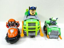 Paw Patrol Recycle Trucks Hovercraft Chase Police Dog Mixed Lot of 4 Pieces
