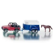 *NEW* SIKU 1651 BLISTER PACK Jeep With Horse Trailer And Horse Diecast Model