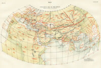 Ptolemys Map of the World 1883 Historic Antique Style Map Poster 18x12 inch