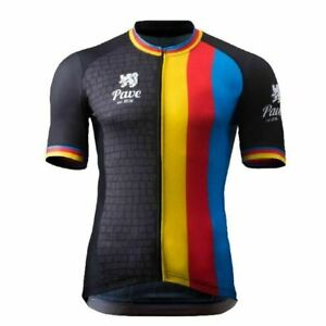 Pave Belgium Flanders Cycling Jersey Bike Ropa Ciclismo MTB Mailot