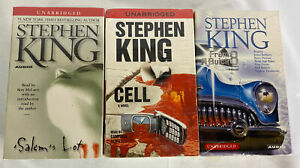 Lot of 3 Steven King Audio Books Unabridged, Salems Lot, Cell, From A Buick 8