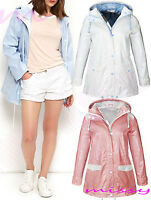 WATERPROOF COAT  Festival Rain Mac Ladies coat Womens Jacket Size 8 10 12 14 16