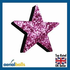 Pink Stardust Glitter STAR Car Aerial Ball Antenna Topper