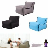 Air Lounge Chair Inflatable Sofa Lazy Couch Bed Beach Bag Camping Outdoor Seat