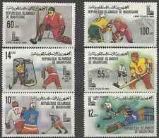 Timbres Sports d'hiver JO Hockey Mauritanie 431/6 ** lot 2403