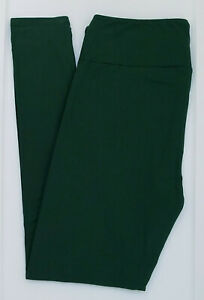 TC LuLaRoe Tall & Curvy Leggings Beautiful Solid Dark Forest Green NWT 10