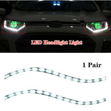 2PCS LED Headlight Light Daytime Running Flow Turn Signal 12V Tears White Lamp