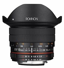 Rokinon 12mm F2.8 Ultra Wide Fisheye Lens for Canon EOS EF DSLR Cameras - Ful...