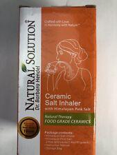 Natural Solution Ceramic Salt Inhaler and Nasal Inhaler with Pink Salt