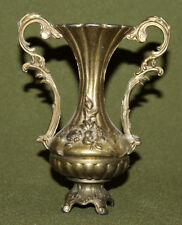 Vintage ornate floral brass footed vase