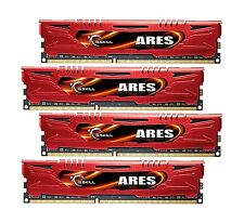 32GB G.Skill DDR3 PC3-17000 2133MHz Ares Low Profile CL11 Red Quad kit 4x8GB