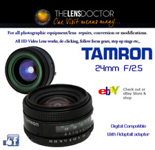 TAMRON 24mm F/2.5 REFURBED IMMACULATE FITS ALL BODIES HIGH PERFORMANCE LENS