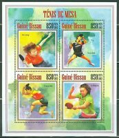 GUINEA BISSAU 2014 TABLE TENNIS PING PONG SHEET OF FOUR STAMPS