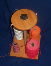 Weaving 4 Cone Holder for Rigid Heddle Loom, Kumihimo, Inkle etc. UPTO 4 Spools