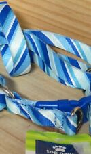 """TOP PAW  DogHarness NEW Size Small 12""""-20"""" BLUE/TEAL STRIPEWeave nylon Steel"""