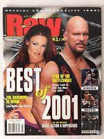WWF Wrestling Magazine - February 2002 RAW -  Steve Austin & Lita WWE