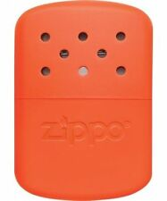 Zippo Orange Refillable Deluxe Hand Warmer w/ Pouch 12 hour