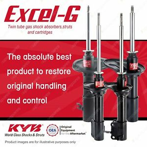 Front + Rear KYB EXCEL-G Shock Absorbers for MAZDA 323 BG Astina BP 1.8 I4