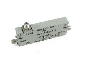 Norsal Industries D1489714 Directional Coupler - 20 dB - SMA Female Connectors