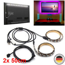 2x USB 50cm 5V 5050 RGB LED Strip Licht Bar TV Hintergrundbeleuchtung Leiste Kit