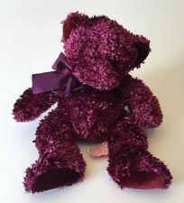 "Russ Berrie Poppy Burgundy And Sparkles Bear 10"" 20856"