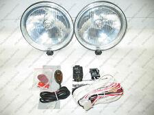 Front Bumper Lights Bar Fog Driving Lamps Black Chrome Off-Road Kit