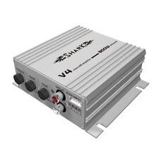 Shark 2 Kanal Verstärker Endstufe 800 Watt V4 Silber 2-Kanal Hi + LOW Input RCA