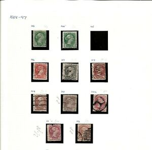 CANADA (M178)1882-98 SG101-68 RANGE 46 STAMPS HIGH CAT READ DISCRIPTION MM-USED