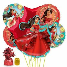 Disney Elena of Avalor Deluxe Birthday Party Favor Balloon Bouquet 9pc Kit