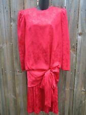 ARGENTI VINTAGE RED SILK DRESS.SIZE 6